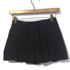Lululemon Black Pleated Skort Skirt